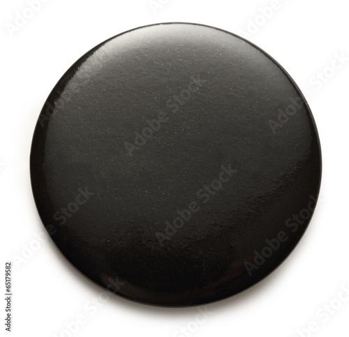 Fotografía  Blank black round badge