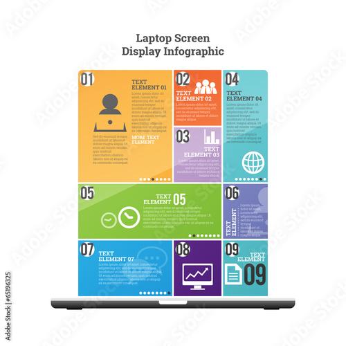 Photo  Laptop Screen Display Infographic