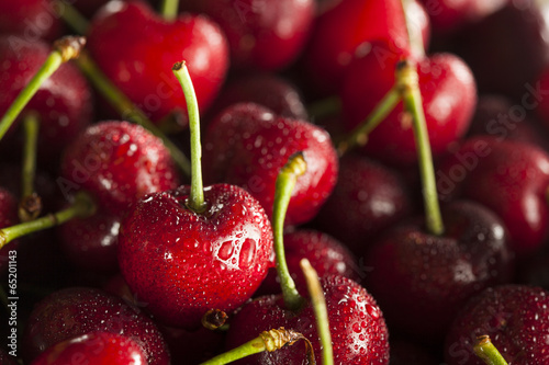 Fotografie, Obraz  Raw Organic Red Cherries