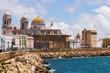 Cadiz Cathedral and Atlantic Ocean