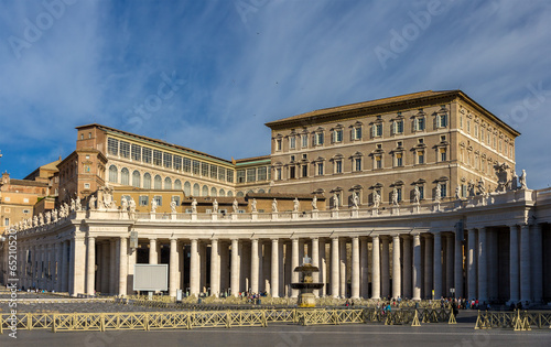 Photo View of Apostolic Palace from Saint Peter's Square in Vatican
