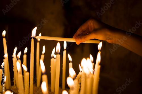 In de dag Vuur Candles