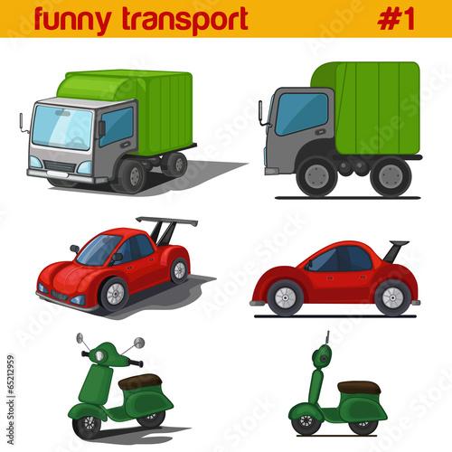 zabawy-kreskowka-wektor-zestaw-ikon-pojazdow