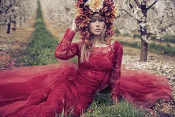 Fototapeta Romantyczny Fantsatic portrait of the Lady Summer