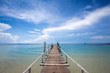 Beautiful tropical Bridge on beach in Koh Samed , Thailand