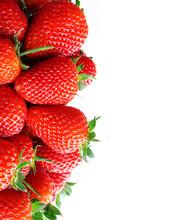 Fresh Ripe Perfect Strawberry On White