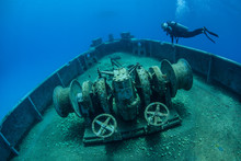 Diver And Shipwreck 2