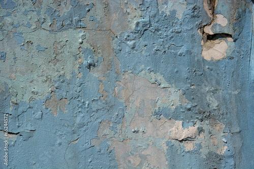 Foto auf AluDibond Alte schmutzig texturierte wand Old blue peeled wall