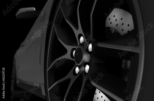 Fotografía  Alloy Wheel Closeup