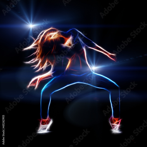 Female hip hop dancer - 65262903
