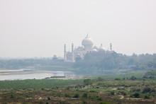 Taj Mahal Downriver On The Ban...