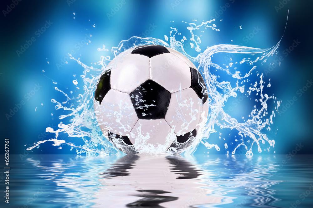 Fototapeta soccer splash