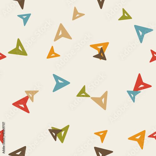 Poster Geometric animals seamless background: gps