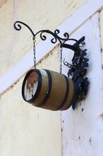 Hanging Wine Barrel On Ancient...