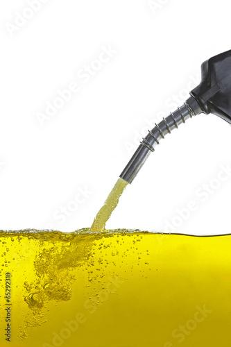 Zapfpistole zapfhahn mit Benzin Canvas Print