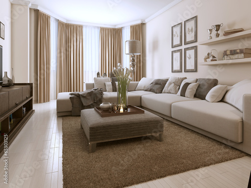 Fotografie, Obraz  Living room in Contemporary style