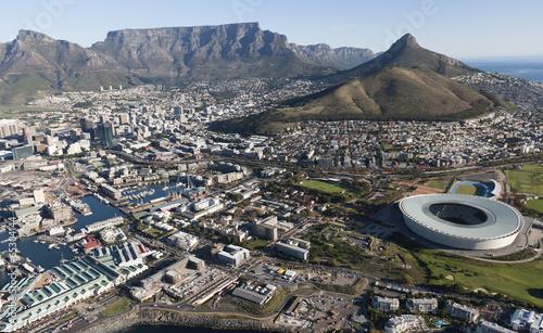 Foto op Plexiglas Zuid Afrika Table Mountain - view across Cape Town