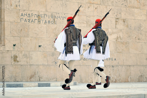 Photo Stands Athens Evzoni guard