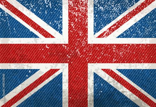Vintage UK flag Canvas Print
