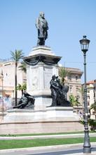 Monument To Camillo Benso Di Cavour In Piazza Cavour, Rome
