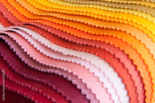 Colour fabric samples