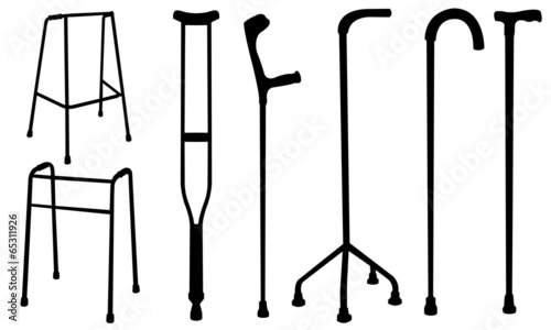 Fotomural crutches