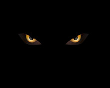 Evil Eye On Black