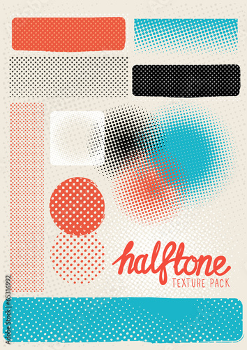 Obraz Vector Halftone Texture Pack - fototapety do salonu