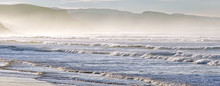 Panorama With Waves On Shoreline