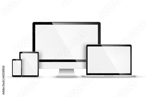 Fotografia  Set of modern devices. Vector