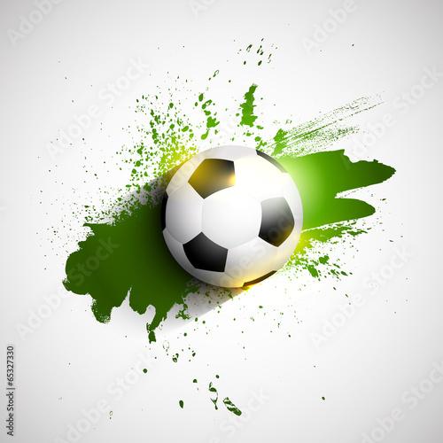 Photo  Grunge football / soccer ball background
