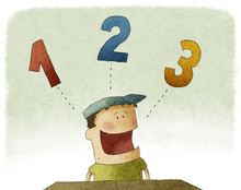 Illustration Of Kid Counting T...