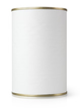 White Blank Metal Tin Can Isol...