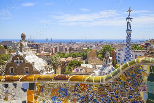 Fototapety, obrazy: park guell in barcelona