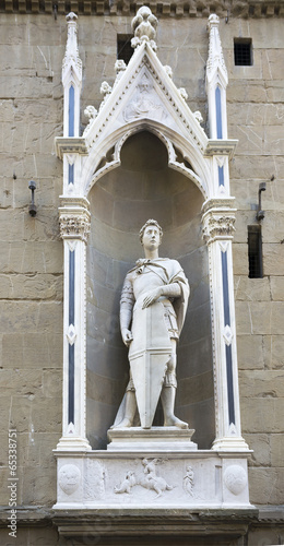 Statue of St. George, the sculptor Donatello Poster