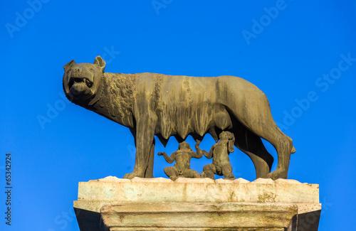 Fotografija  Capitoline Wolf statue in Rome, Italy