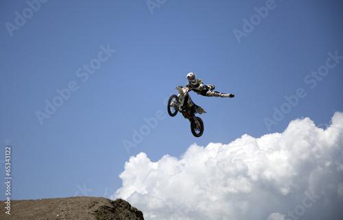 Fotobehang Wintersporten moto freestyle