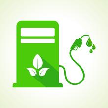 Bio Fuel Concept With Petrol Pump Machine Stock Vector