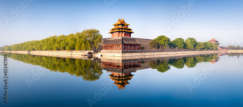 Canvas Prints Peking Verbotene Stadt in Beijing Panorama