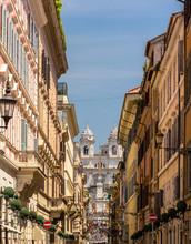 Via Dei Condotti, A Street In The Center Of Rome