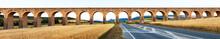 Panorama Of  Aqueduct Near Pamplona