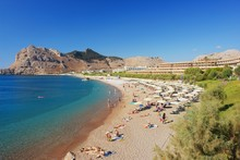 View Of The Beach In Kolymbia,...