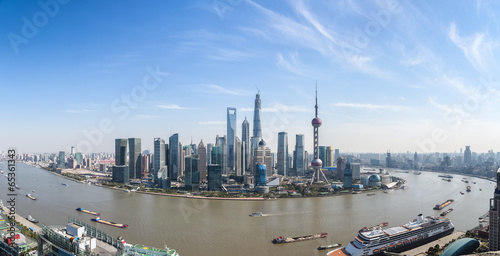 Foto op Aluminium Shanghai shanghai lujiazui panoramic view and the huangpu river