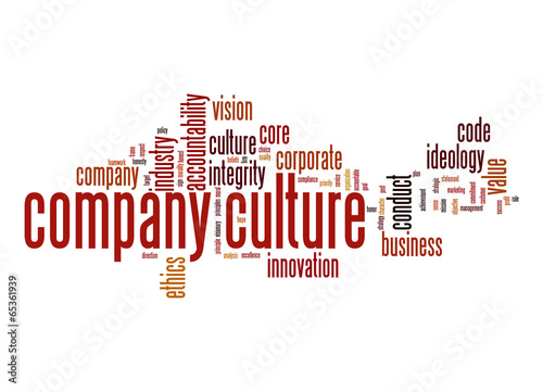 Fotografía  Company culture word cloud