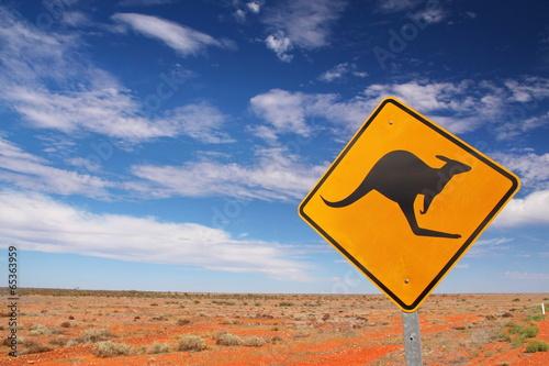 Deurstickers Australië Australian endless roads