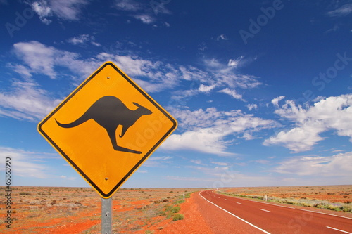 Papiers peints Kangaroo Australian endless roads