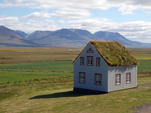 Haus In Einsamer Landschaft, Island, Glaumbær