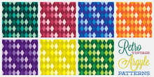 Retro Vintage Argyle Patterns ...