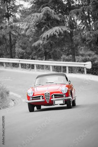 Obraz w ramie Red classic car