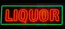 """Neon Sogn """"liquor"""""""